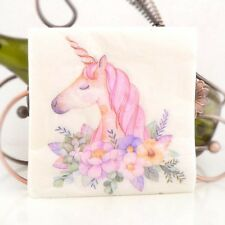 100 x Printed Napkin 2ply Paper Serviettes party Dining Tableware Unicorn Horse