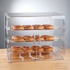3 Tray Bakery Clear Acrylic Bakery Display Case with Rear Doors Cupcake stand