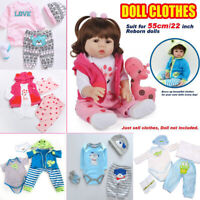 20-22 inch Reborn Baby Doll Clothes Sets (50-55cm) Doll Outfits Romper Coat Hat