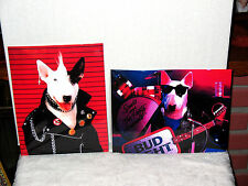 Budweiser Bud Light Spuds Mackenzie 8.5x11 PHOTO POSTERS SIGNS MANCAVE BAR 2PCS