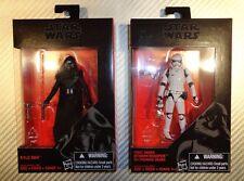 "Star Wars The Force Awakens Black Series 3.75"" Kylo Ren First Order Stormtrooper"