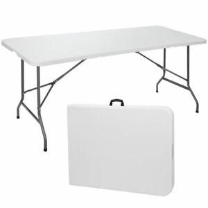 6 ft Portable Picnic Folding Table - White