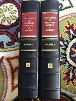 Discourses of President Gordon B. Hinckley Vol 1&2 Invecchiato Leather Employee