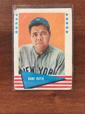 1961 Fleer Baseball Greats #75 Babe Ruth