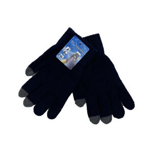 Adult Unisex Magic Touch Screen Gloves Navy Smartphone Tablet Warm Knitted Glove