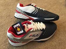NEW FILA  Axilus 2 Men's Tennis Shoes Size 10.5 Blue White Retail $115 FREE SHIP