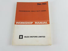 Isuzu truck / bus 1980/82- heavy duty transmission factory workshop manual