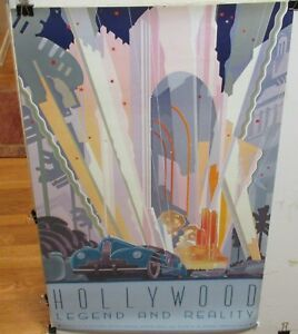 """DOUG JOHNSON """"HOLLYWOOD LEGEND AND REALITY"""" LARGE COLOR POSTER"""