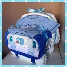 ⭐️Windeltorte Baby Auto⭐️ tolles Geschenk zur Taufe, Geburt oder Babyparty