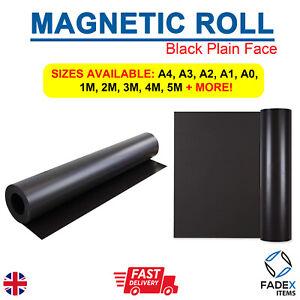 MAGNETIC SHEET SIGN VINYL 0.75MM BLACK PLAIN FACE FLEXIBLE 620MM