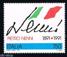 ITALIA IL FRANCOBOLLO PIETRO NENNI POLITICO 1991 nuovo**