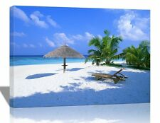 Sea Beach Tree Canvas Print HD Framed Stretched Wall Art Home Office Decor Gift
