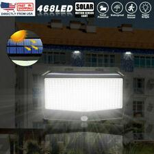 New listing Solar Powered 468 Led Pir Motion Sensor Wall Light Garden Outdoor Lamp Decor Usa