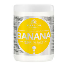 Kallos Banana Fortifying Hair Mask with Multivitamin Complex for Dry Hair 1000ml