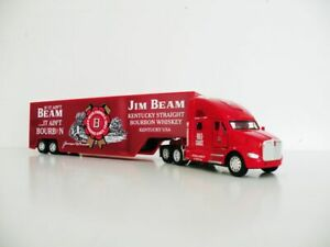 KENWORTH Red Diecast T Series Truck Trailer 1:66 Scale Jim Beam Custom Graphics