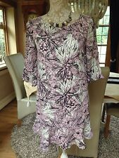DESIGNER FCUK FRENCH CONNECTION DITSY PEAKY BLINDERS TUNIC SHIFT DRESS 6 8