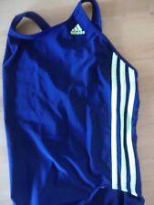 Adidas Badeanzug blau mit gelben Streifen(Größe 36)