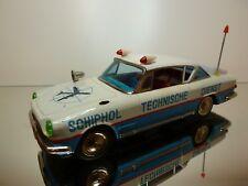 ICHIKO TIN TOYS FIAT 2300 S - SCHIPHOL TECHNISCHE DIENST - L27.0cm - GOOD