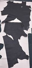 10 SQ FT DARK GREY GENUINE REAL GRAIN LEATHER HIDE OFFCUTS TOP QUALITY