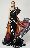 NWT Designer One Shoulder Butterfly Gown