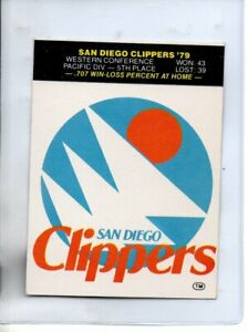 1979-80 FLEER SAN DIEGO CLIPPERS STICKER