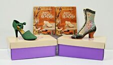 Lot of 2 Just the Right Shoe: Deco Boot and Sumptuous Quilt Green High Heel Shoe
