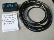 New listing Monster Prolink Instrument Cable Ts - Ts Gold 19 ft & Whirlwind Imp2 Direct Box