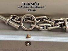 HERMÈS Bracelet Vintage  Chaine d'ancre GM ARGENT - HERMES SILVER BRACELET -