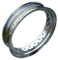"""Ultima 40 Hole Chrome Steel Front or Rear 21""""x 1.85"""" Drop Center Rim For Harley"""