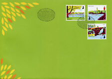 Finland 2018 FDC National Urban Parks II 3v S/A Set Cover Trees Nature Stamps
