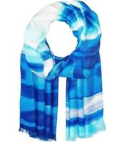 Calvin Klein Watercolor Stripe Wrap Pashmina Scarf Regatta, Blue White