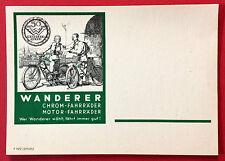 Reklame AK CHEMNITZ WANDERER Werke Motor Fahrräder  ( 10273