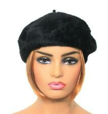 Quality Angora Wool Blend Beret Ladies Womens Fashion Hat BLACK