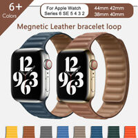 Leather Link Loop Watch Band Strap For Apple Watch Series 6 5 4 3 2 1 iWatch SE