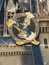 Disney Epcot Food And Wine 25th Anniversary Donald Duck Pin Lr Pin In Hand