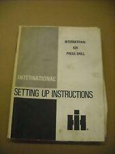 33 x 54 Poster International Harvester 620 Drill Setting Up Instructions Fold
