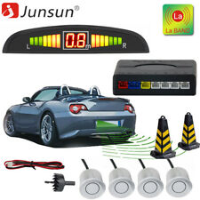 4 Parking Sensors Car Auto Reverse Backup Rear Buzzer Radar System Sound Alarm