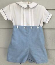 BOYS 'N BERRIES size 12 mos 2 piece dress outfit gingham pants and top - H
