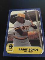 Barry Bonds 1986 Fleer Update U-14 Rookie Card