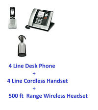 Vtech ERIS 4 Line Corded & Cordless Business Phone System UP416 Wireless Headset