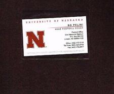 Bo Pelini Nebraska Business Card Football Coach