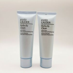 2 Estee Lauder Perfectly Clean Multi-Action Foam Cleanser/Mask 50ml EXP09/22
