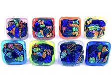Cabinet Knobs Drawer Pulls DICHROIC Fused Glass Rainbow Shards Kitchen Bathroom