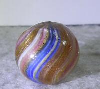 #11301m Beautiful German Handmade Onionskin Lutz Marble .67 Inches