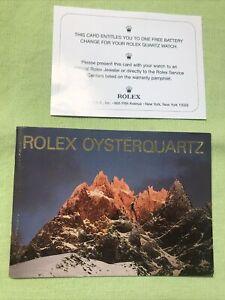 "Rolex Vintage ""Rolex Oyster-Quartz "" Booklet 1992/10  English version."