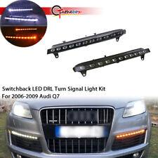 LED Daytime Running Light For Audi Q7 DRL 2006-2009 Turn Signal Switchback New