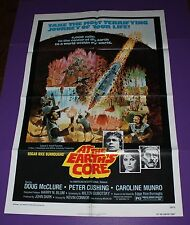 AT THE EARTH'S CORE MOVIE POSTER ORIGINAL ONE SHEET PETER CUSHING