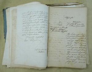 1828-1861 Hemhofen 100 Blatt Abschriften Akten Briefe Handschriften Unterfranken