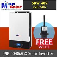 (MGX) Solar power inverter 5000w 48v 230vac MPPT solar charger 80A + FREE WIFI