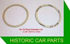 """2 H2 1¼"""" SU Carb FLOAT CHAMBER GASKETS for MG Magnette 1489cc ZA 1953-58"""